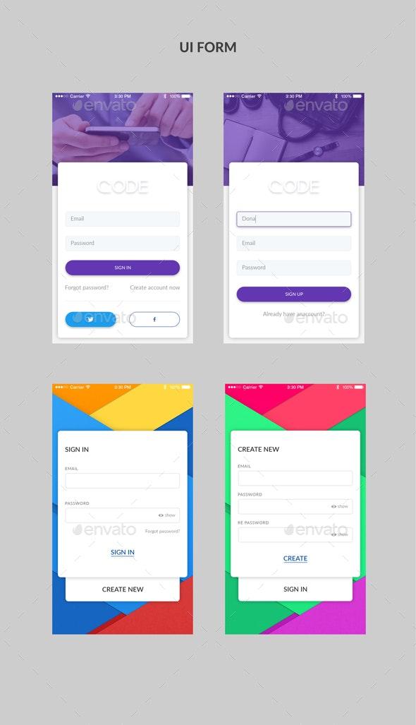 UI Form - Forms Web Elements