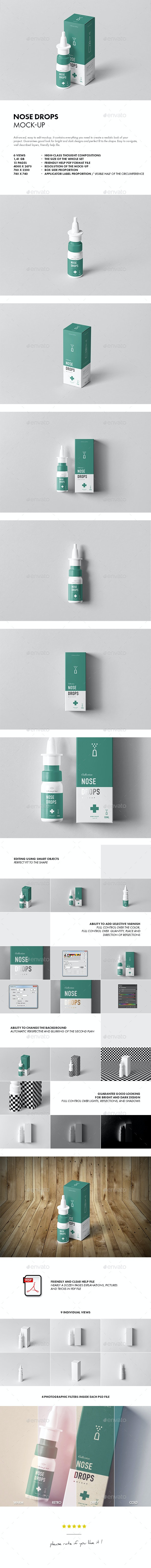 Nose Drops Mock-up - Miscellaneous Packaging