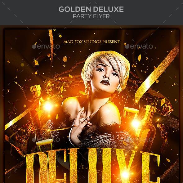 Golden Deluxe Party Flyer