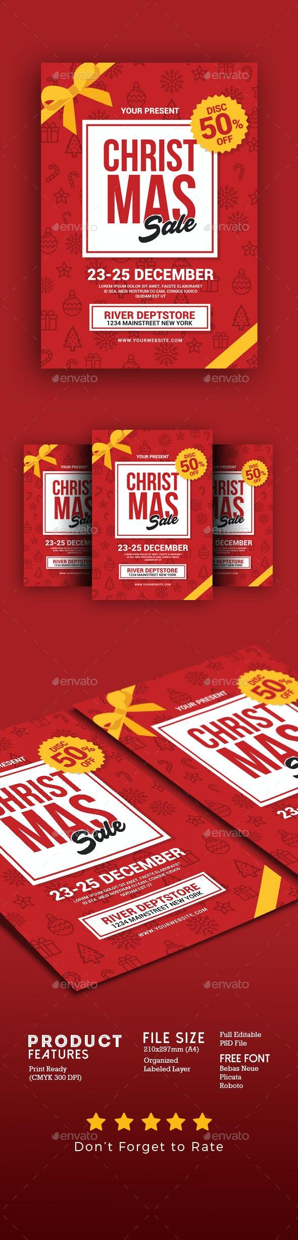 Christmas Sale Flyer - Commerce Flyers