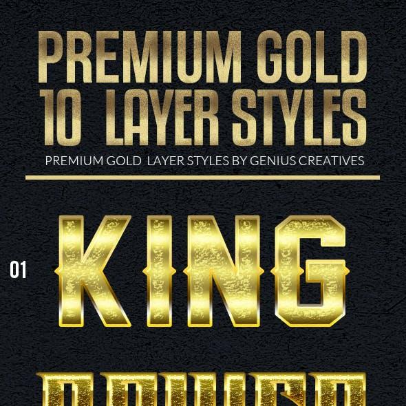 10 Premium Gold Text Styles