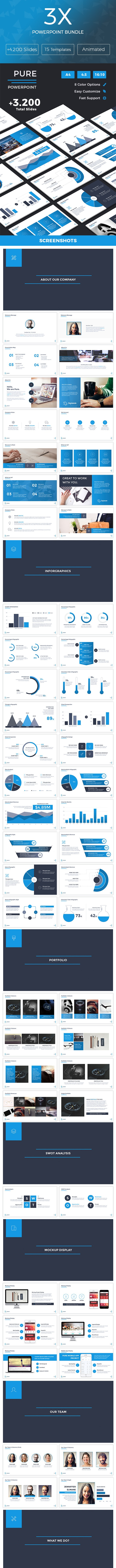 3X Powerpoint Bundle - 3in1 - PowerPoint Templates Presentation Templates