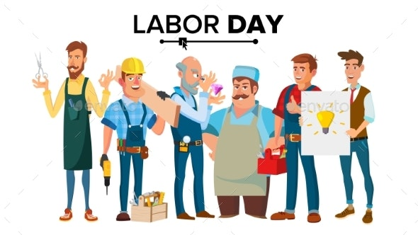Labor Day Vector - People Characters