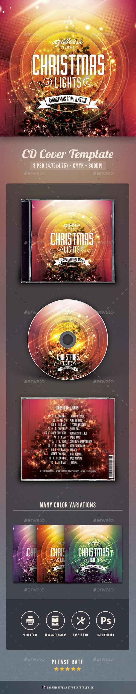 Christmas Lights CD Cover Artwork - CD & DVD Artwork Print Templates