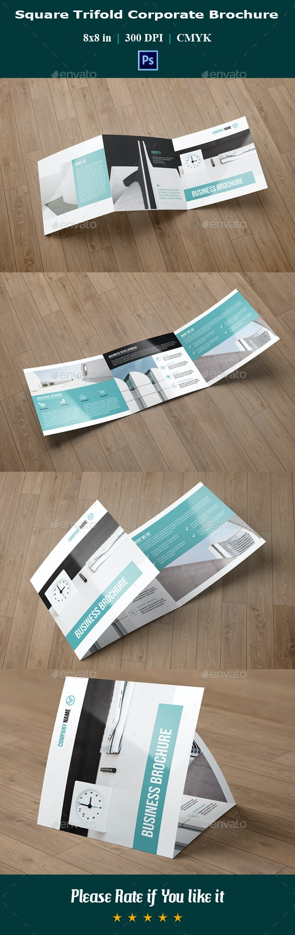 Square Trifold Business Brochure V05 - Corporate Business Cards