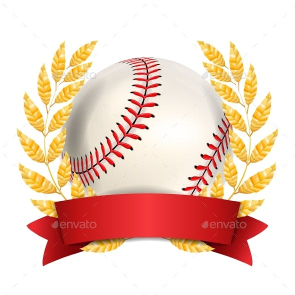 Baseball Award Vector