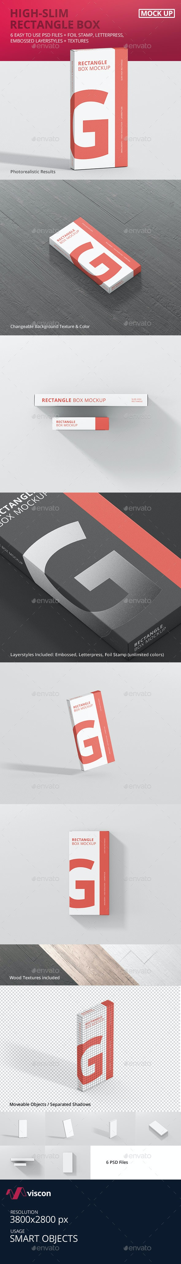 Box Mockup - High Slim Rectangle - Miscellaneous Packaging