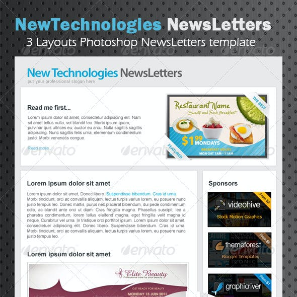 Professional marketing E-newsletters