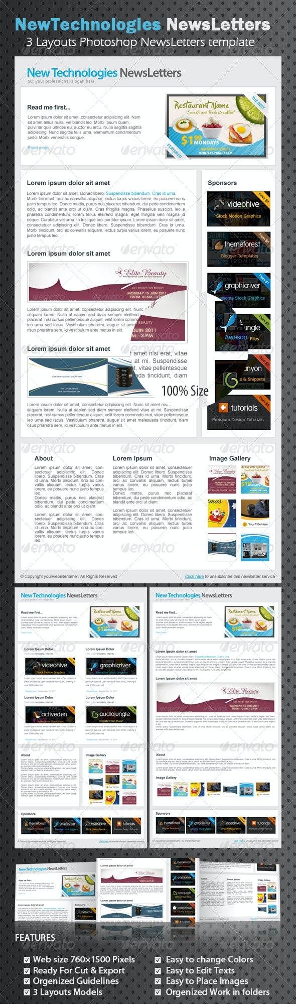 Professional marketing E-newsletters - E-newsletters Web Elements