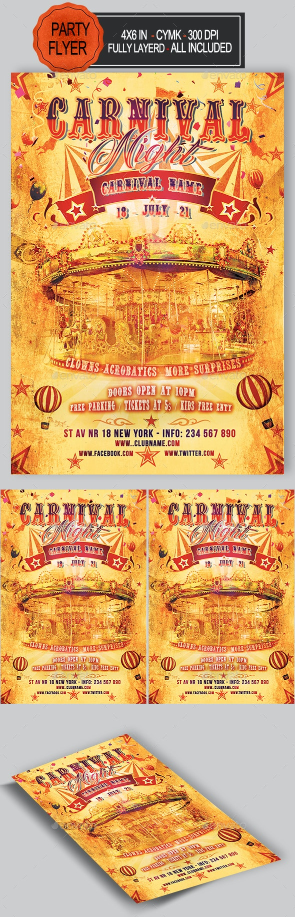 Carnival Flyer - Holidays Events