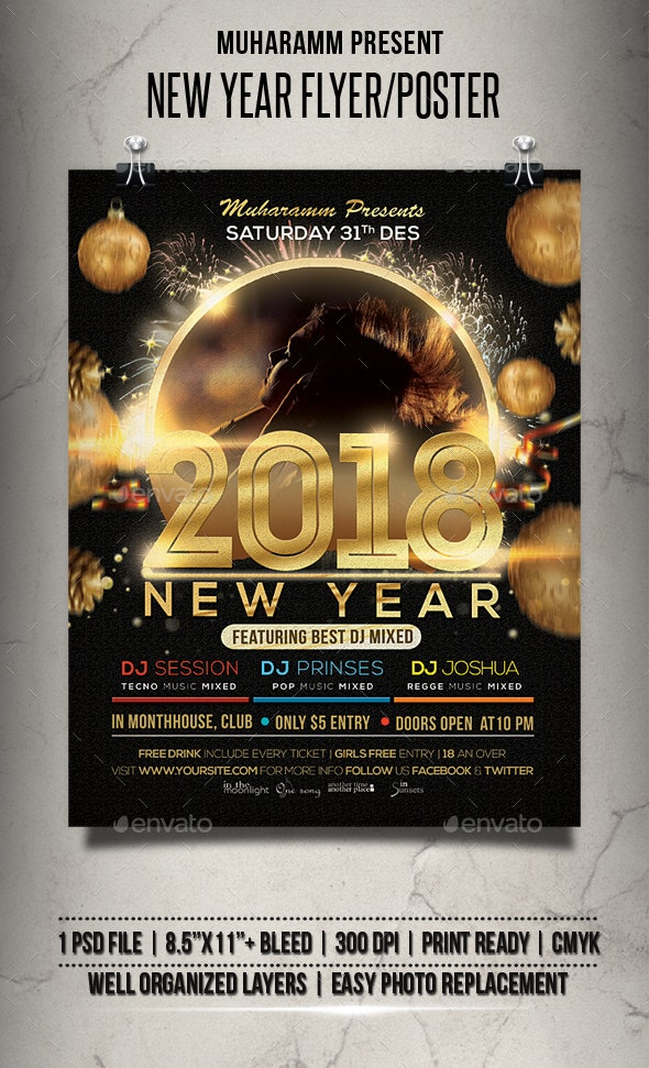 New Years Flyer / Poster - Events Flyers