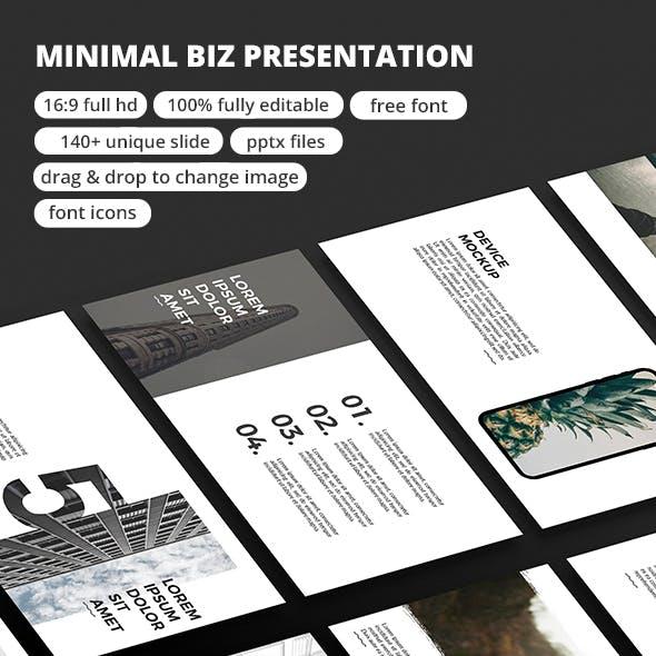 Minimal Biz - PowerPoint Presentation