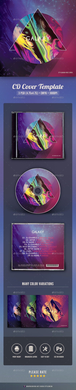 Galaxy CD Cover Artwork - CD & DVD Artwork Print Templates