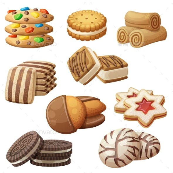 Set of Cookie Icons