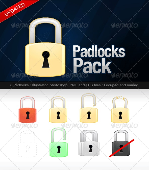 Padlocks Pack - Man-made Objects Objects