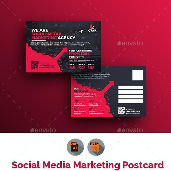 Social Media Marketing Postcard