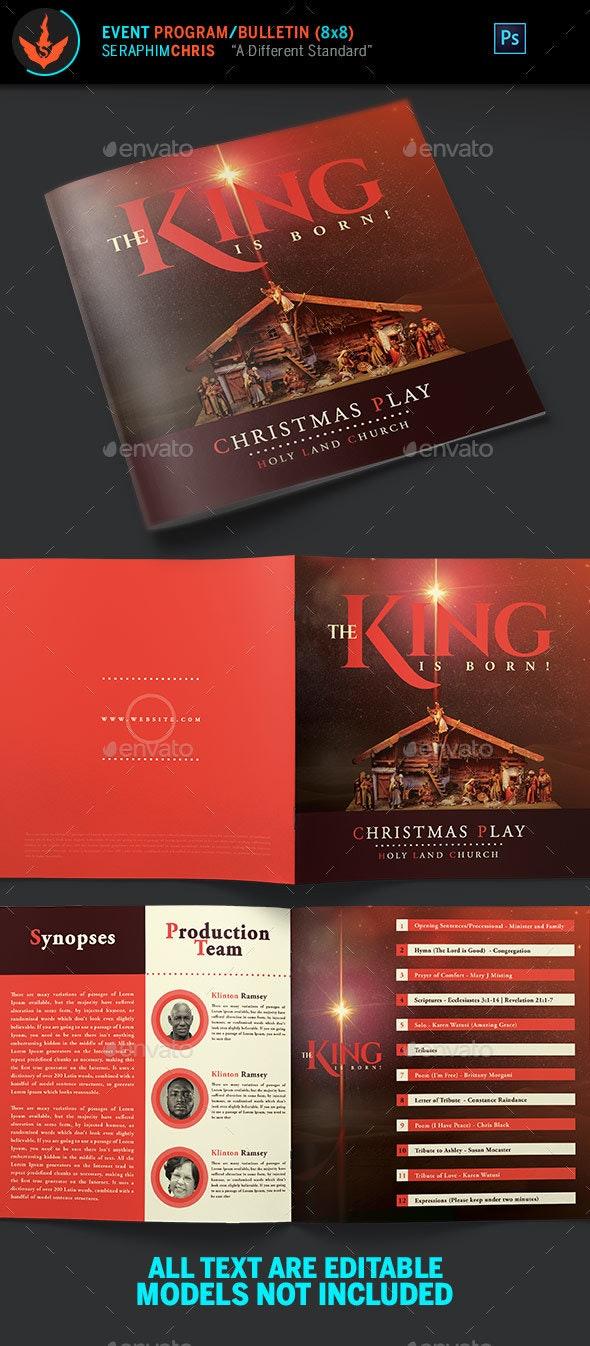 The King is Born Christmas Program Template - Informational Brochures