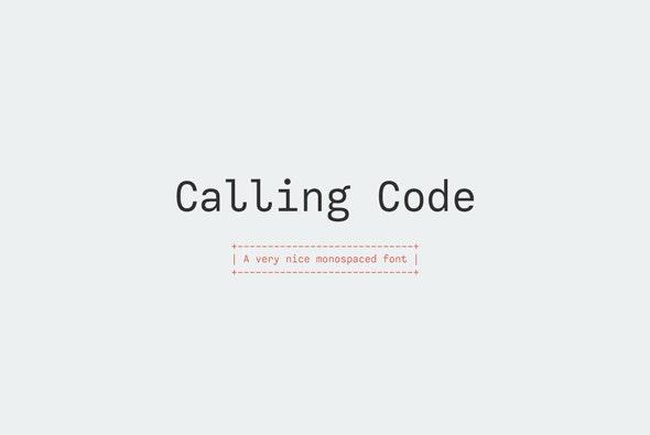 Calling Code - Monospaced Sans-Serif
