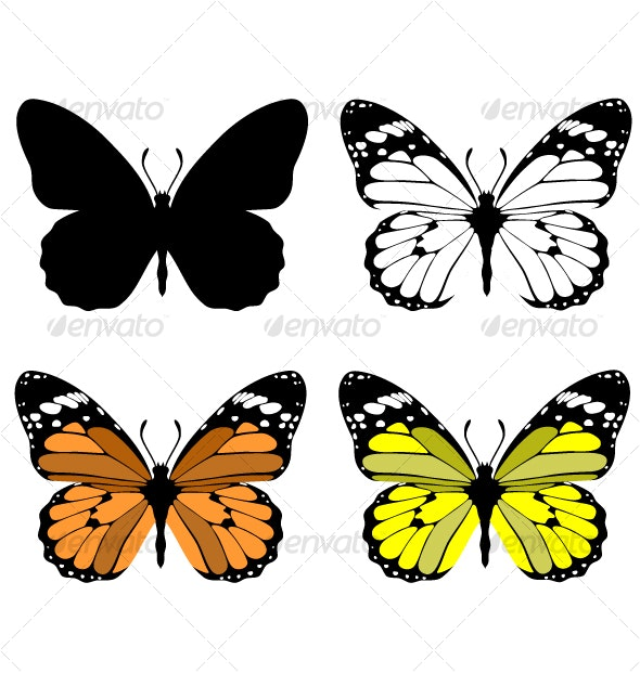 Butterfly set 10 - Animals Characters