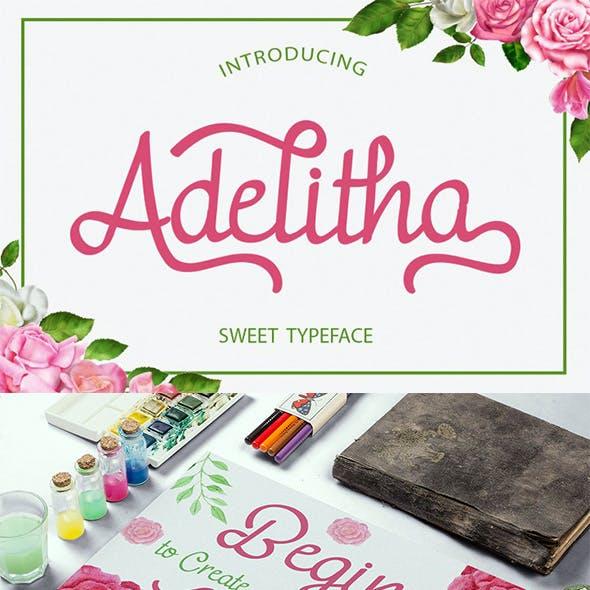 Adelitha - Sweet Typeface