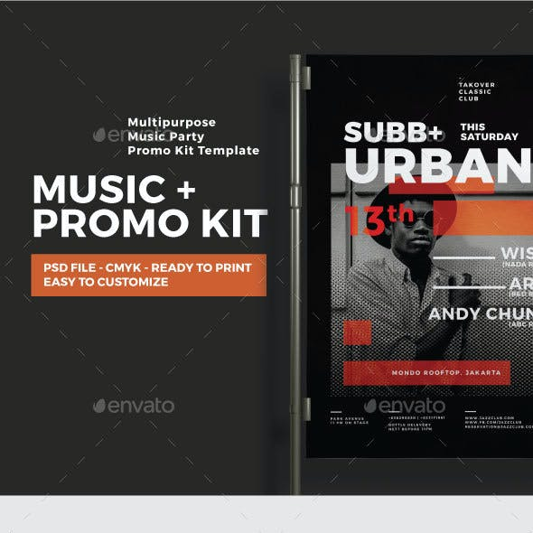 Music Event Promotion Kit (Flyers & Social Media)