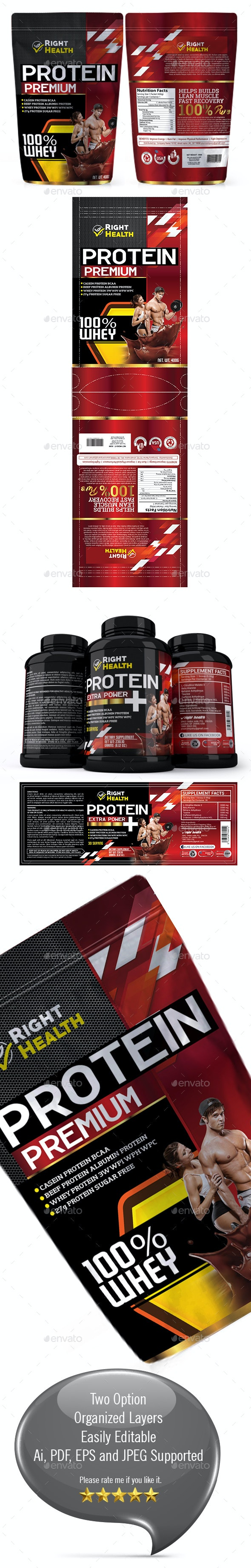 Supplement Label Template Vol 28 - Packaging Print Templates