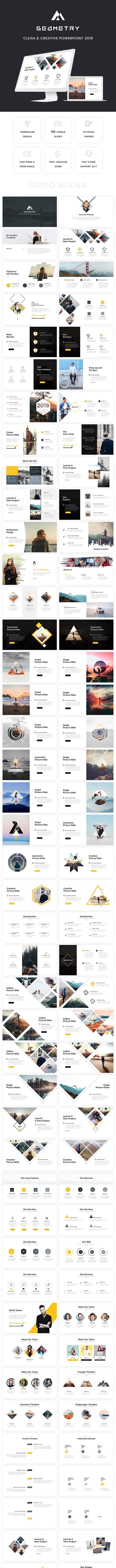 Geometry - Clean & Creative Powerpoint Template - Creative PowerPoint Templates