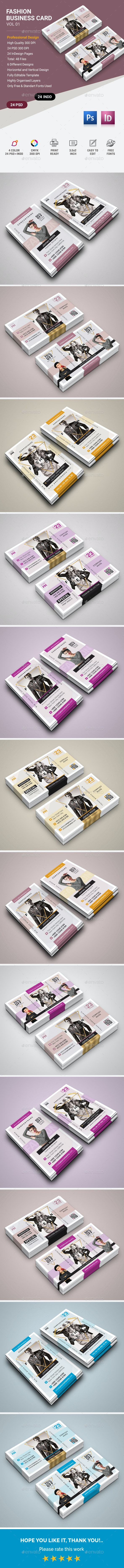 Fashion Business Card - Business Cards Print Templates