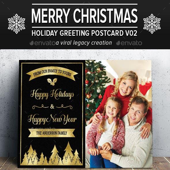 Christmas Greeting Postcard V02
