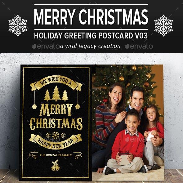 Christmas Greeting Postcard V03