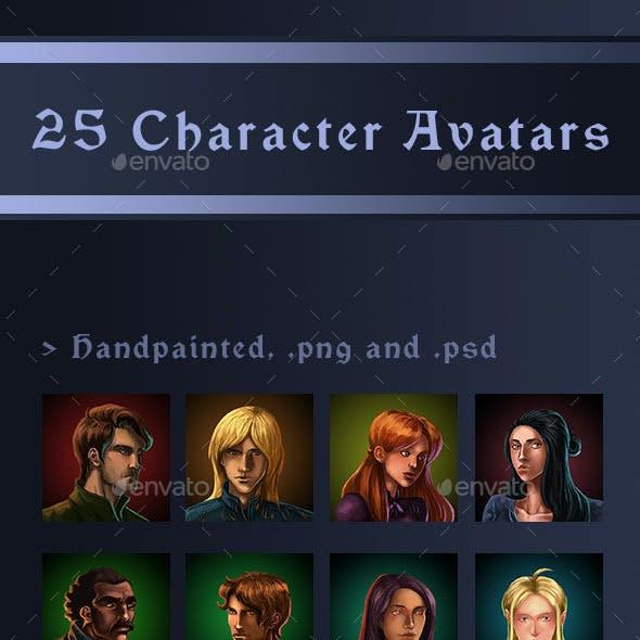 25 Character Avatars
