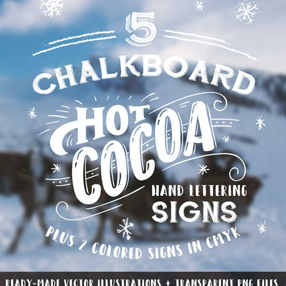 Hot Cocoa Chalkboard Signs Set