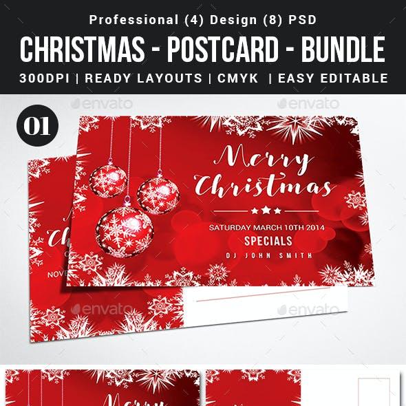 Christmas 4 Postcard Bundle