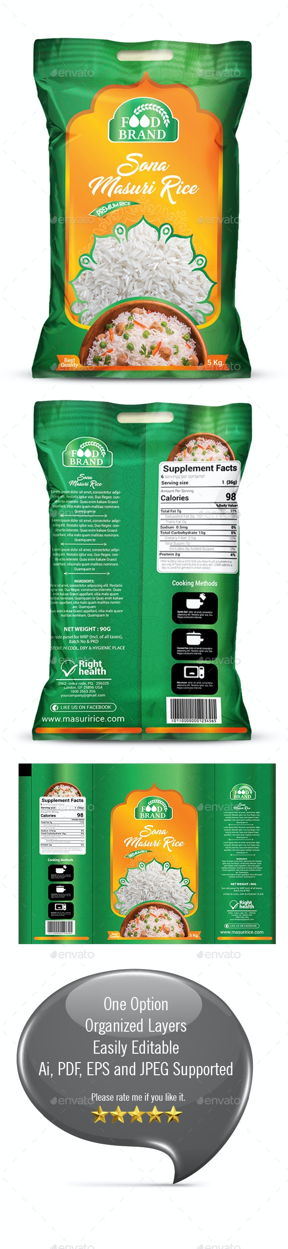 Rice Packaging Template