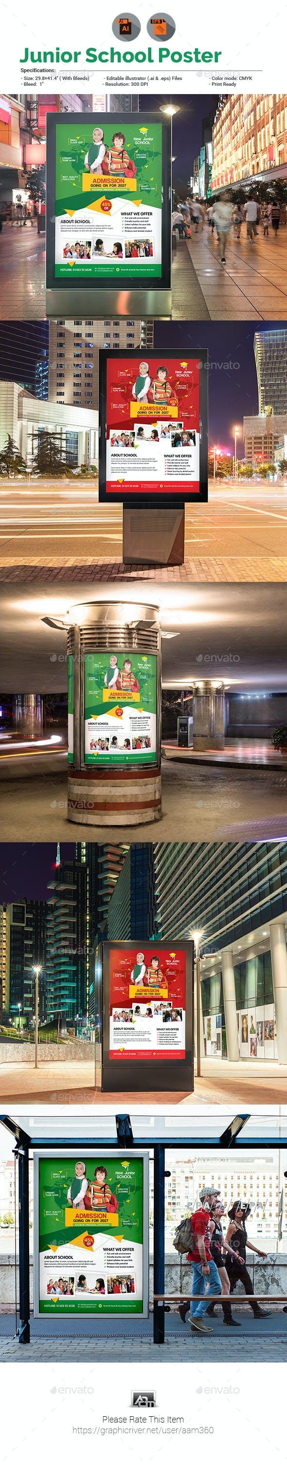 Junior School Promotion Poster Template