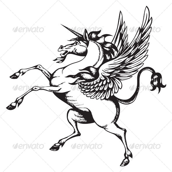 winged unicorn - Animals Characters