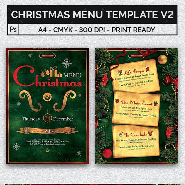 Christmas Menu Template V2