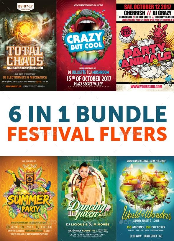 6 in 1 Mega Festival Bundle - Events Flyers