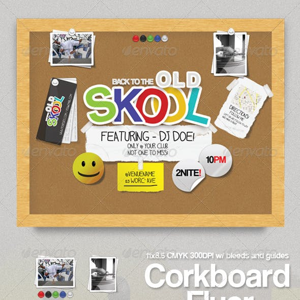 Corkboard Flyer
