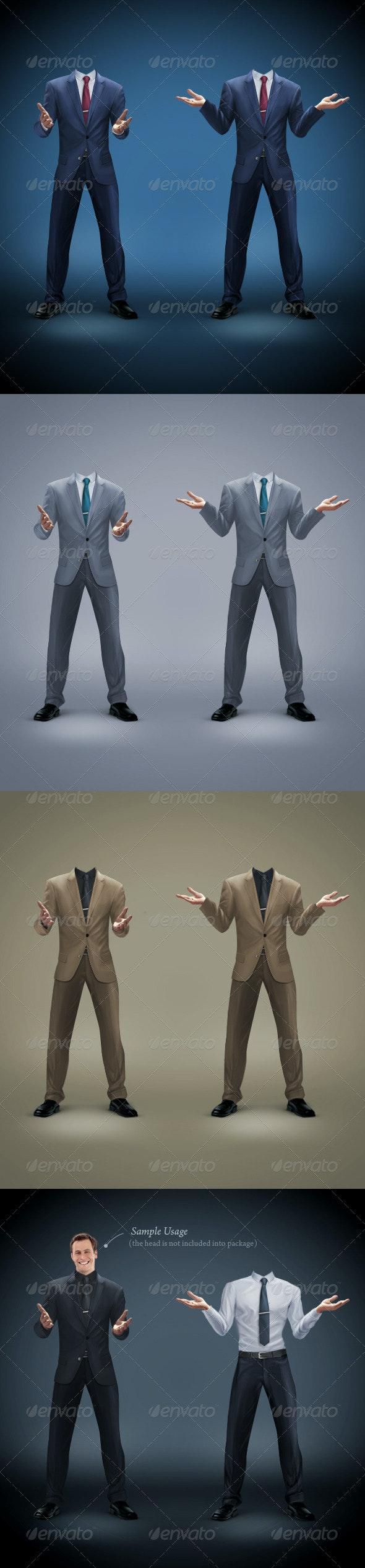 Businessman Template 2 - Business Illustrations