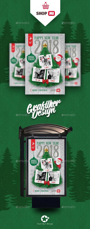 Christmas Poster Templates - Signage Print Templates