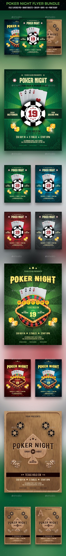 Poker Flyer Bundle - Clubs & Parties Events