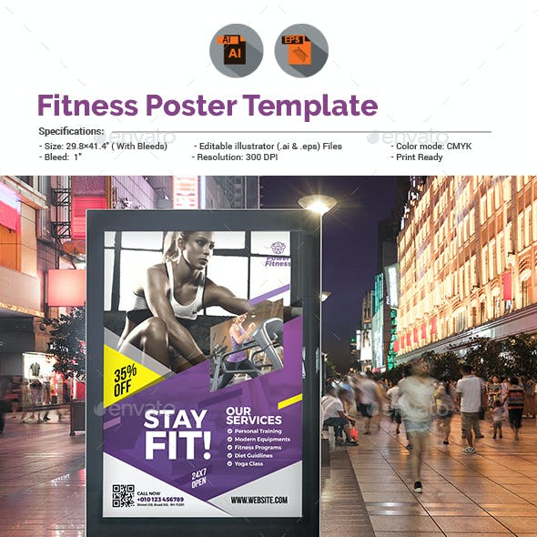 Fitness/Gym Poster Template