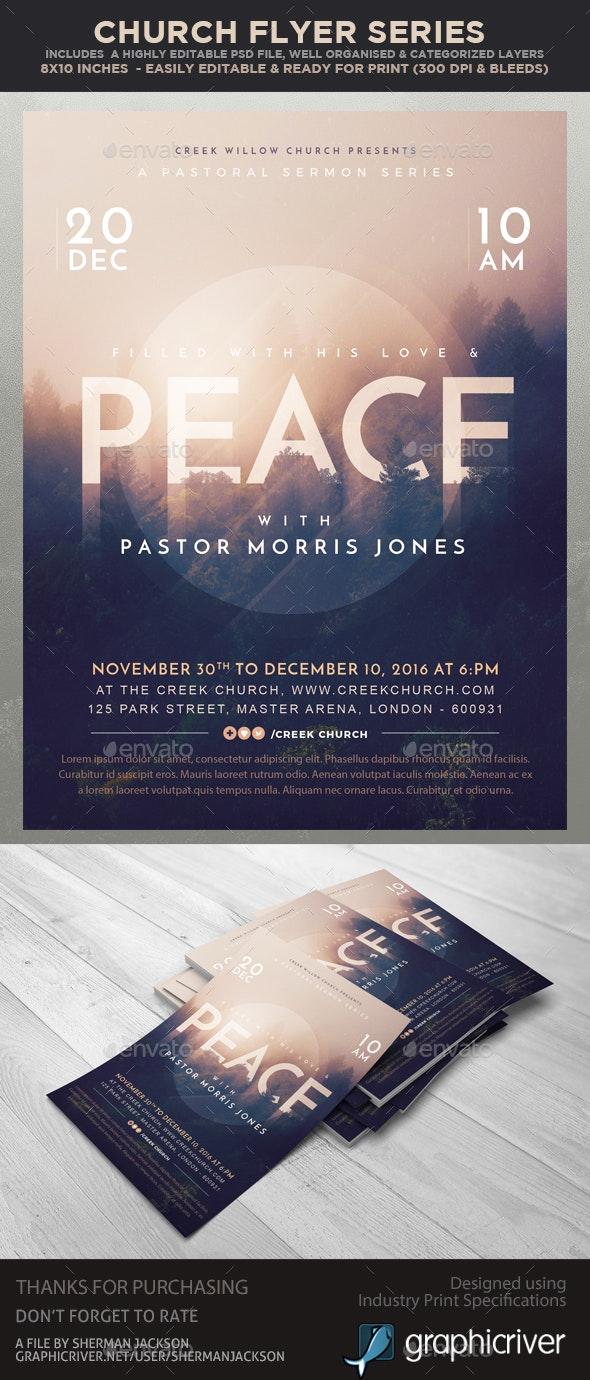 Church/Christian Themed Event Flyer - Peace - Church Flyers