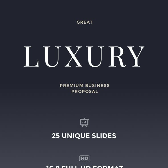 Great Luxury Premium Business Proposal - Keynote Template
