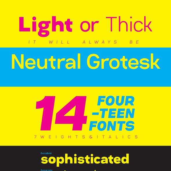 Neutral Grotesk Typeface