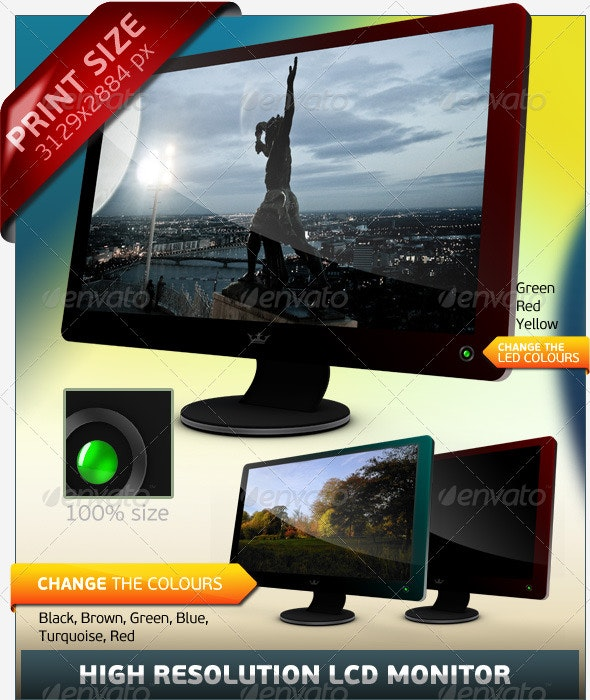 LCD Monitor - Objects 3D Renders