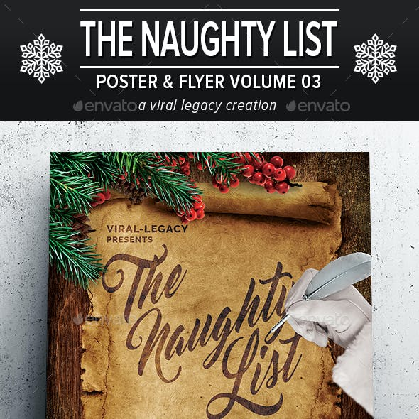 The Naughty List Poster / Flyer V03