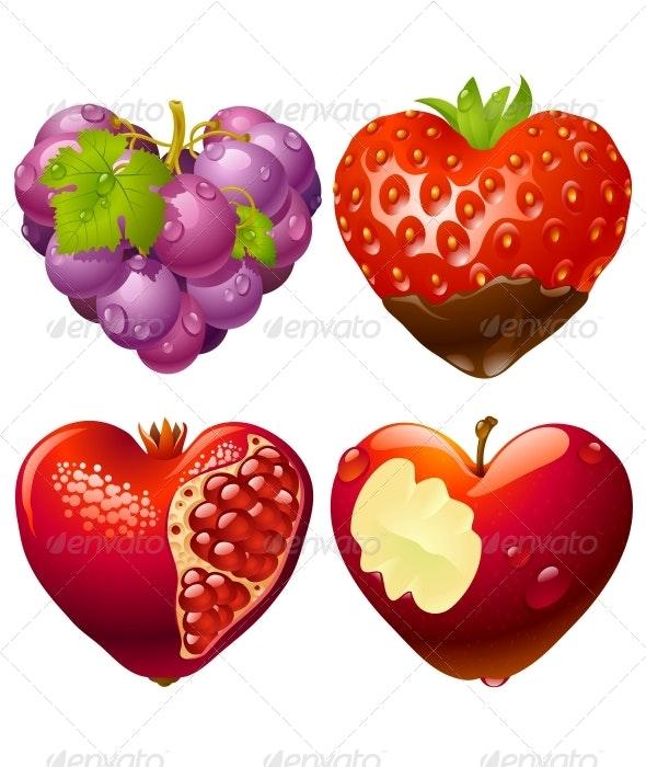 Shape of heart set 2 - Food Objects