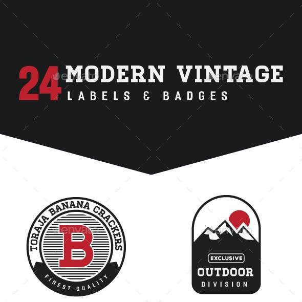 Modern Vintage Labels and Badges